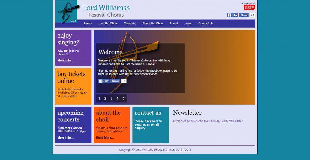 LORD WILLIAMS'S FESTIVAL CHORUS
