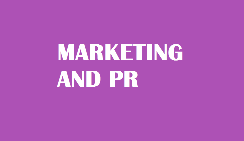 MARKETING AND PR