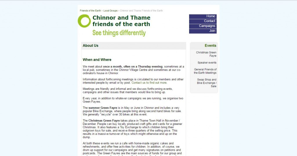 chinnor and thame friends of earth