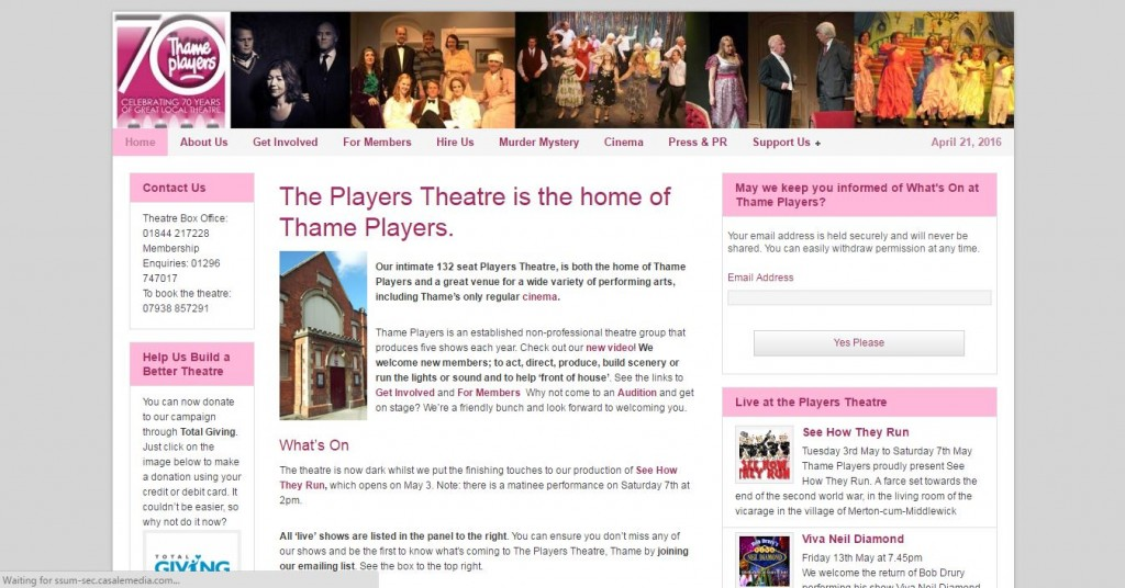 thame players theatre