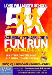 Lord Williams's School 5k Fun Run @ Oxford Road, OX9 2AQ