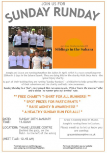 Join us for Sunday Runday @ Thame Leisure Centre (Behind the gate, on the field to the left of the astro)