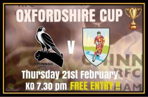 Oxfordshire Cup Semi Final - Chinnor vs Oxford Quins @ Kingsey Rd Thame OX9 3JL