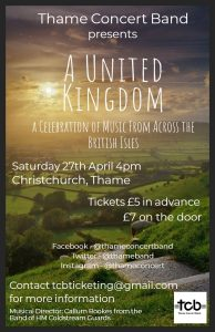 Thame Concert Band presents A United Kingdom @ Christchurch