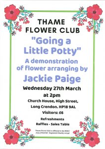 "Thame Flower Club – ""Going a little potty"" @ Church House, High Street, Long Crendon, HP18 9AL"