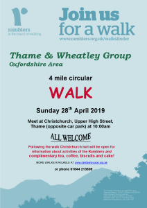 New walkers welcome @ Upper High Street car park, Thame