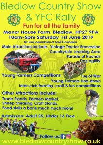 Bledlow Country Show & YFC Rally @ Man House Farm, Bledlow,HP27 9PA