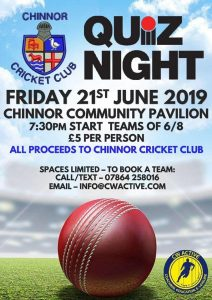 Quiz Night @ Chinnor Community Pavilion Station Rd, Chinnor, Oxfordshire, OX39 4PU