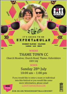 Women's softball festival @ Church Meadow, Church Road, Thame, OX93AJ