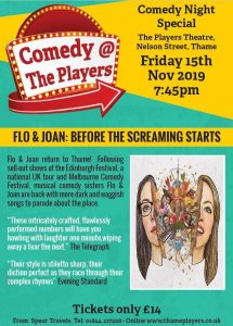 Comedy @ The Players presents: FLO & JOAN: BEFORE THE SCREAMING STARTS @ The Players Theatre, Thame, OX9 2DP