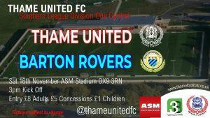 Thame United v Barton Rovers @ ASM Stadium, Thame