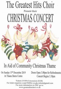 Greatest Hits Choir Christmas Concert @ Thame Barns Centre