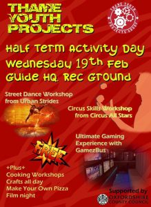 Thame Youth Projects: Half Term Activity Day @ Guide Hut Rec Ground