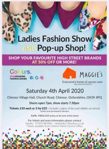 Ladies Fashion Show and Pop-up Shop @ Chinnor Village Hall